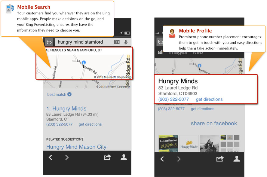 PowerListings Mobile on Bing