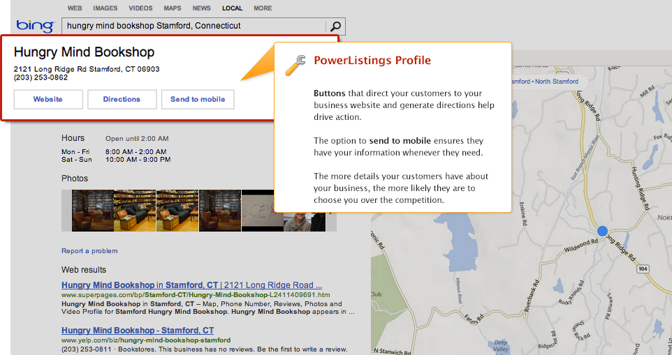 PowerListings Live on Bing
