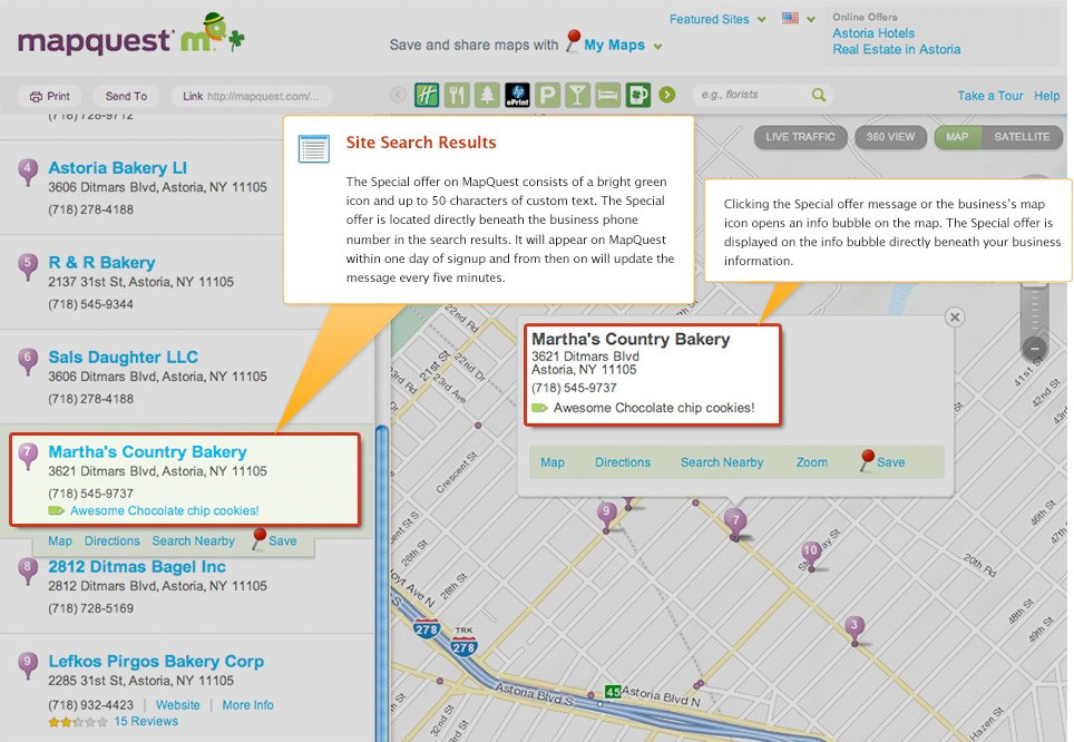 PowerListings Live on MapQuest